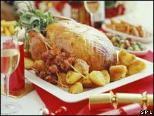 都市 美味 掠影 圣诞 food christmas/Can you see the roasted potatoes?