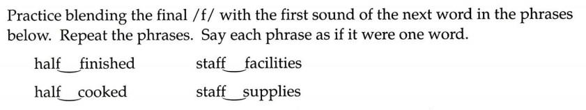 美国英语语音语调速成 Consonant 2 Exercise 5