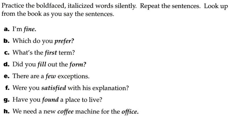 美国英语语音语调速成 Consonant 2 Exercise 6