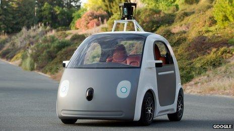 """谷歌研发新款""""无人驾驶汽车"""""""