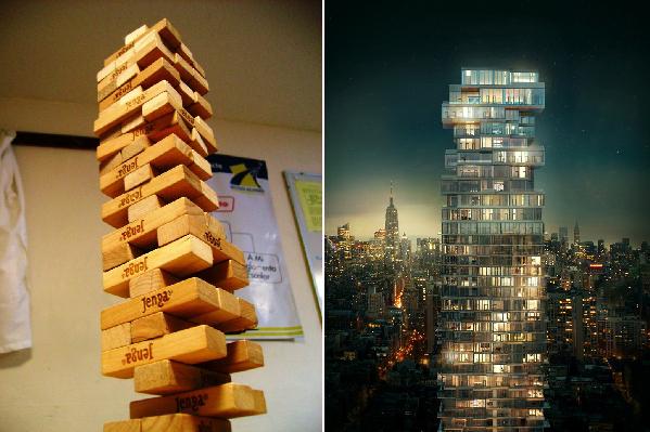 建筑也玩叠罗汉?