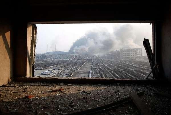 天津滨海爆炸:现场救援