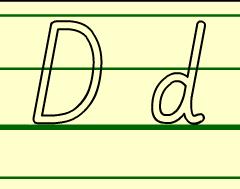字母D d 的书写格式