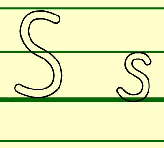 字母S的书写方法