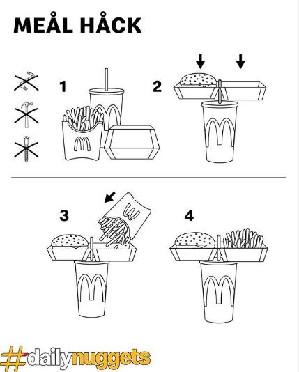 麦当劳单手用餐法,好像并不受欢迎