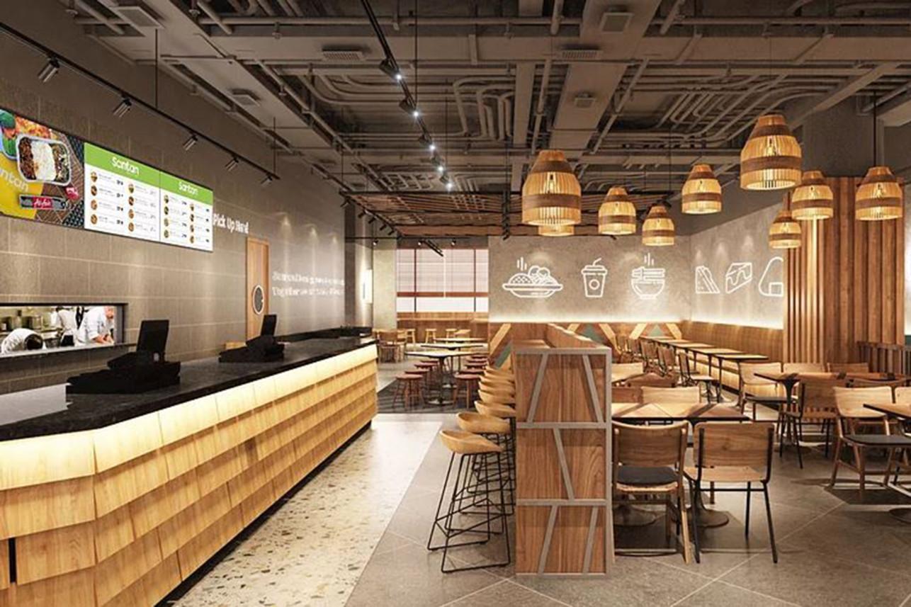 亚航开设了专门提供飞机餐的餐厅