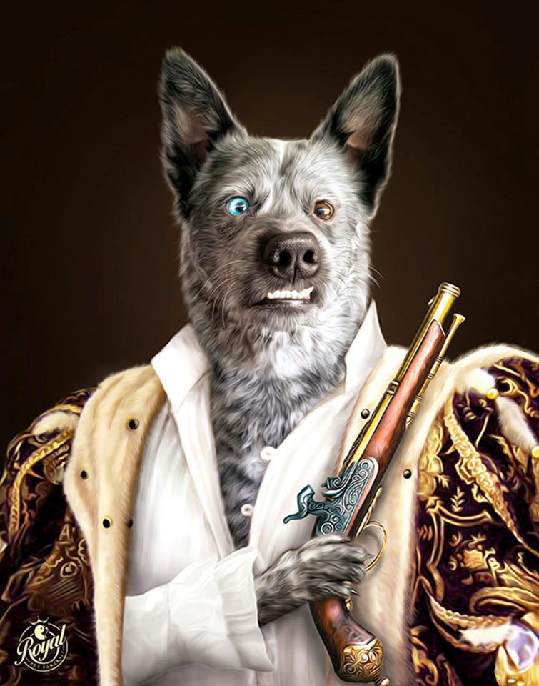 """艺术家把娇生惯养的宠物,变成文艺复兴时期的""""爪子特质"""""""