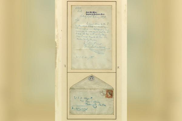 查��斯・狄更斯150年前的信被�l�F
