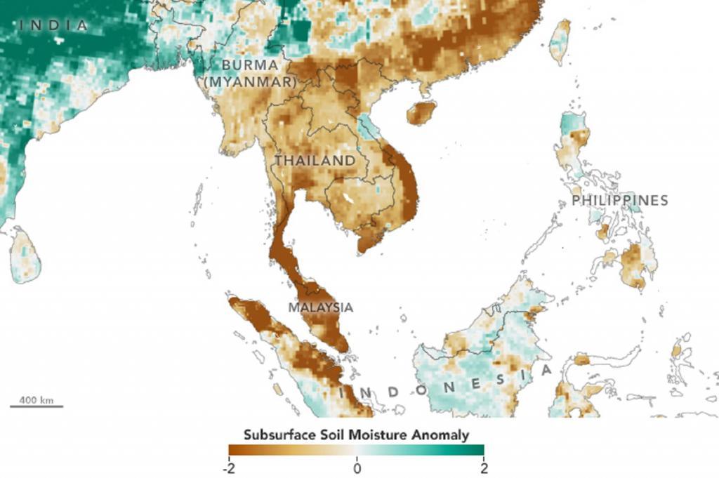 泰国遭遇几十年来最严重的干旱,供水枯竭