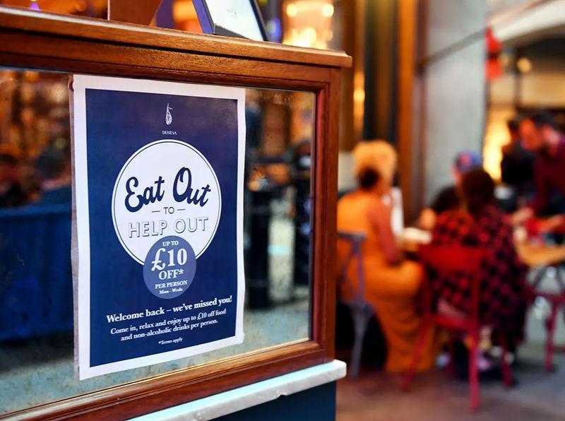 英国实施半价就餐优惠计划