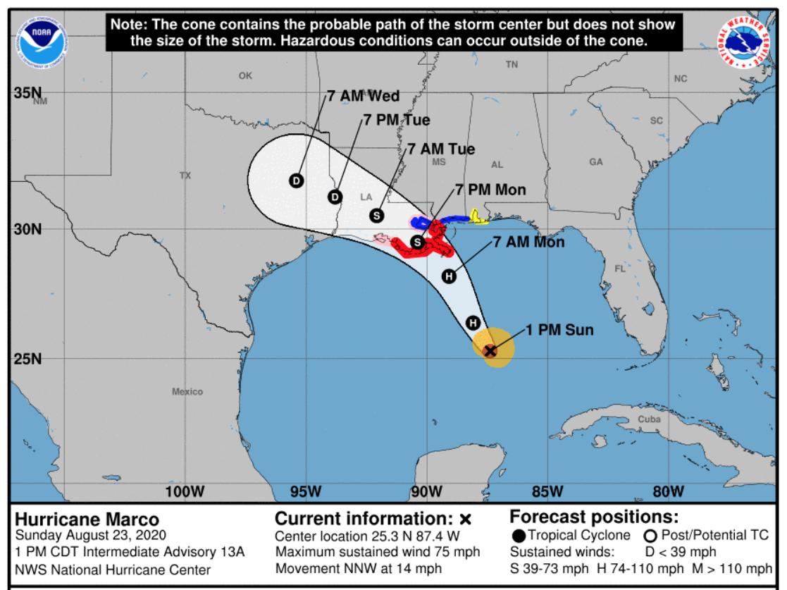 """当马尔科和劳拉接近海岸时,路易斯安那州准备迎接风暴的""""双重打击"""""""