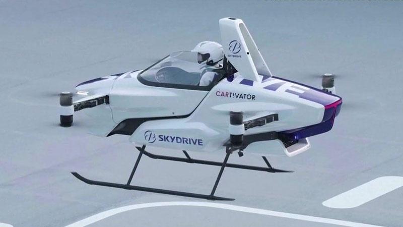 一日本公司功完成了飞行汽车的测试