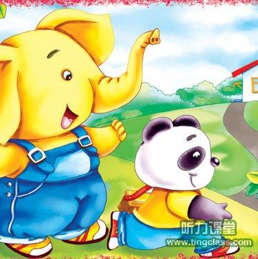 英语童话:小熊猫学木匠