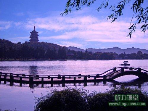 西湖动态风景图片摄影