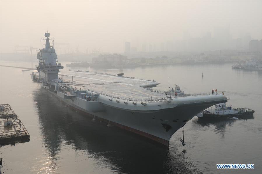 每日一词∣国产航母 domestically-built aircraft carrier