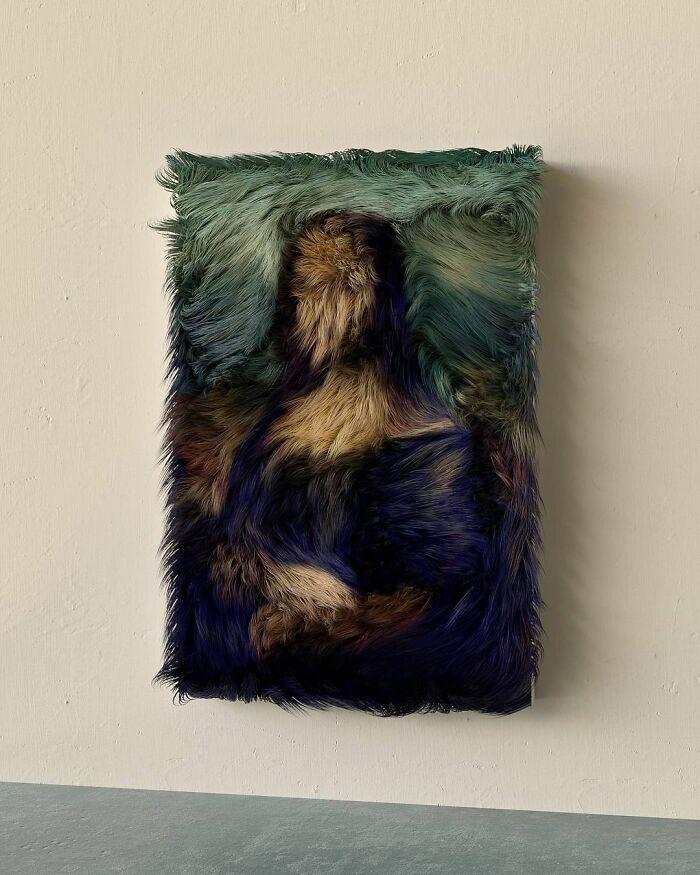 数码艺术家用皮草重新创作著名画作